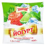 Zlagoda Yogurt Mojito-Strawberry 1.5% 400g