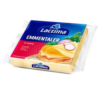 Сыр плавленый Lactima Эмменталер 130г - купить, цены на Метро - фото 1