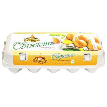 Яйца куриные От доброй курицы Свежесть С1 10шт - купить, цены на Ашан - фото 1