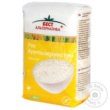 Groats rice Best alternativa short grain white 900g sachet - buy, prices for MegaMarket - image 1