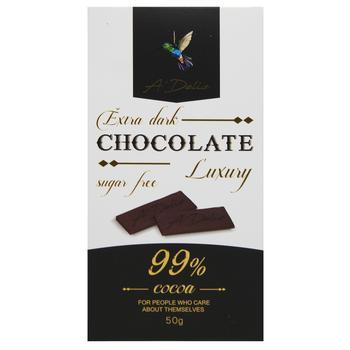 Шоколад A'Delice чорний без цукру 99% 50г - купити, ціни на МегаМаркет - фото 1