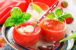 Холодный суп гаспачо с моцареллой