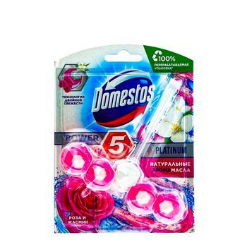 Блок для унитаза Domestos Power 5 Роза и Жасмин 55г - купить, цены на ЕКО Маркет - фото 1