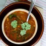 Суп из баранины с сельдереем и луком