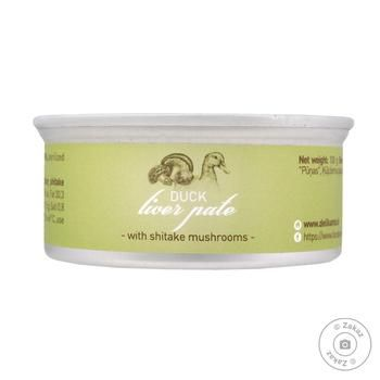 Delikanto With Shiitake Mushrooms Duck Liver Pate 100g - buy, prices for Novus - image 1