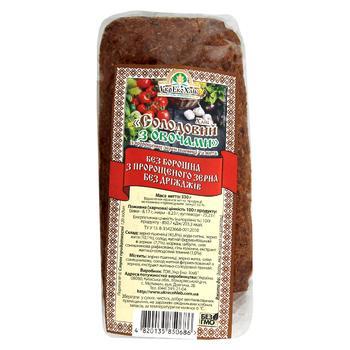 Хлеб УкрЭко-Хлеб Солодовый с овощами с пророщеных зерен пшеницы и ржи 330г