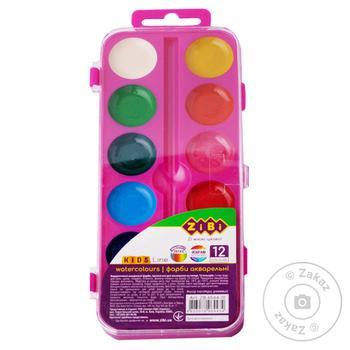 ZiBi Watercolor Paints 12 Colors - buy, prices for CityMarket - photo 3