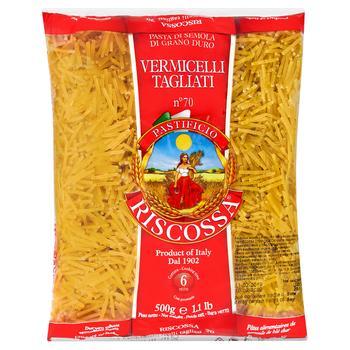 Макаронні вироби Riscossa Вермішель Тагліаті №70 500г - купити, ціни на CітіМаркет - фото 1