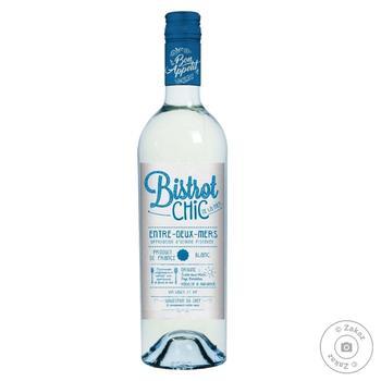 Вино Bistrot Chic Entre-Deux-Mers blanc біле сухе 11.5% 0,75л - купити, ціни на МегаМаркет - фото 1