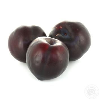Fruit plum black fresh