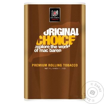 Mac Baren Original Choice Tobacco for Cigarettes 40g - buy, prices for Furshet - image 1
