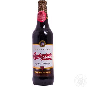 Пиво Budweiser Budvar темное пастеризованное 4,7% 0,5л