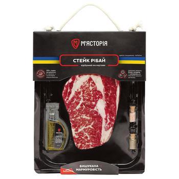 Myastoriya Ribeye Chilled Beef Steak ~350g - buy, prices for CityMarket - photo 1