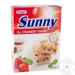 Батончики Bruggen Полуниця-йогурт 8шт. 200г x10