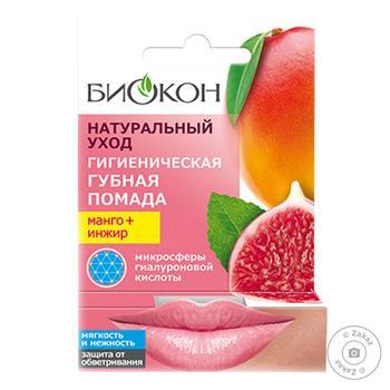 Помада для губ Биокон Натуральний Уход манго+ инжир 4.6г