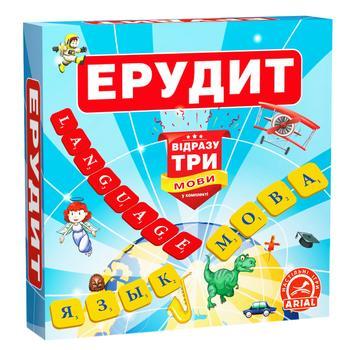 Игра настольная Arial Эрудит три языка - купить, цены на Ашан - фото 1