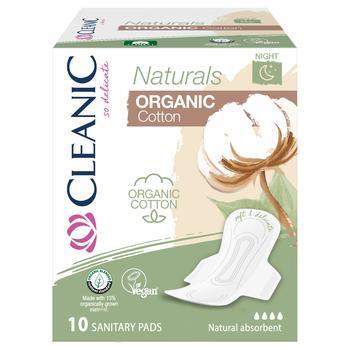 Прокладки гигиенические Claenic Naturals Organic Cotton дневные 10шт