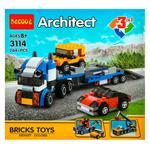 Decool Architect Transport 3in1 Construction Set 264elements