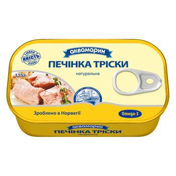 Печень трески Аквамарин натуральная 115г - купить, цены на Ашан - фото 3