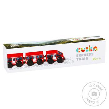 Іграшка Cubika Поїзд Експрес Арт.15108 - купить, цены на МегаМаркет - фото 1