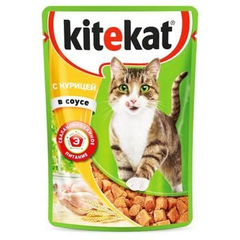 Консервы для кошек Kitekat курица 100г - купить, цены на Фуршет - фото 1