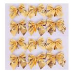 Gold Bows Set 12pcs