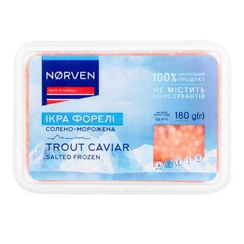 Икра форели Norven солено-мороженая 180г