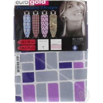 Чехол для гладильной доски Eurogold Premium Design