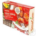 Мясо курицы SmаCom под красным соусом с гречкой замороженное 350г - купить, цены на Таврия В - фото 1