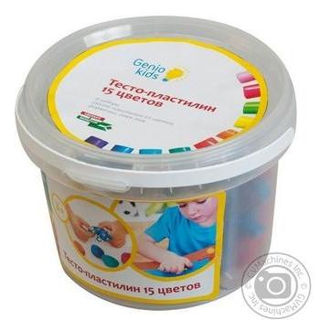 Н-р д/лепки Genio Kids Тесто-пластилин 15цв шт - купить, цены на Novus - фото 3
