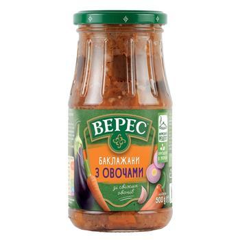 Баклажани Верес смажені з овочами 500г - купити, ціни на Ашан - фото 1