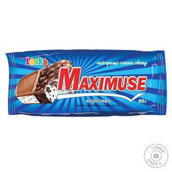 Мороженое Laska Maximuse с печеньем 90г