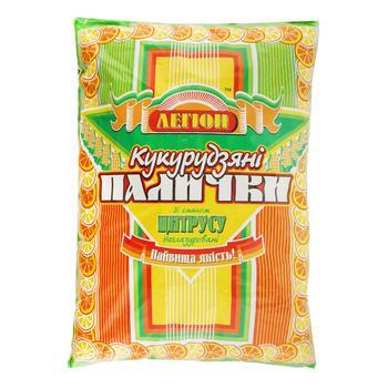 Палочки Легион кукурузные неглазированные со вкусом цитруса 150г - купить, цены на Novus - фото 1