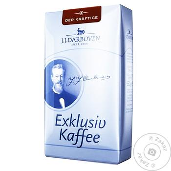 Кофе Exklusiv kaffee Darboven Der kraftige зерновой 250г - купить, цены на Ашан - фото 1