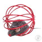 Іграшка для котів Trixie М'яч з мишкою d=6 см кольори в асортименті
