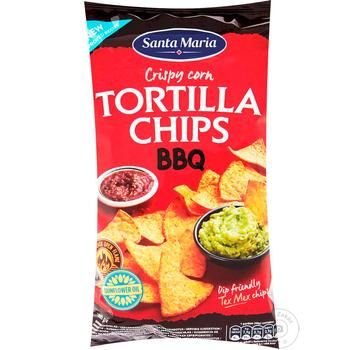 Santa Maria Chips corn Barbecue 185g - buy, prices for Auchan - photo 1
