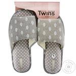 Комнатные тапочки Twins HS Серые женские размер 40