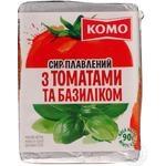 """Сир ТМ""""Комо""""плавлений з томатами табазиліком 55% 90грам"""