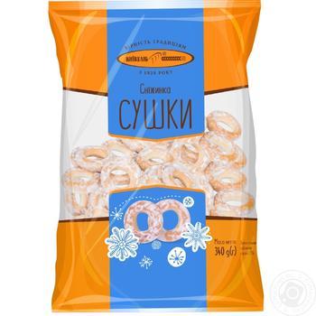 Сушки КиївХліб Сніжинка 340г - купити, ціни на Метро - фото 1