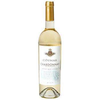 Вино Cotnar Шардоне Хілл біле сухе 0.75л - купити, ціни на МегаМаркет - фото 1