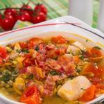 Суп із машем і беконом