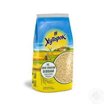 Рис пропаренный Хуторок 800г - купить, цены на МегаМаркет - фото 1