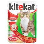 Корм для взрослых котов Kitekat с говядиной в желе 100г - купить, цены на Ашан - фото 3