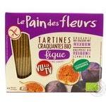 Хлібці Le Pain des Fleurs з інжиру хрусткі безглютенові органічні 150г