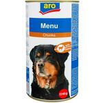 Корм Aro консервированный с дичью для собак 1240г
