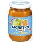 Malyatko for children from 4 months apple-apricot puree 180g