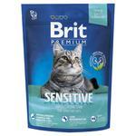 Корм сухой Brit Premium Sensitive для котов с чувствительным пищеварением 300г