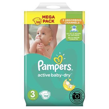 ebb088cdded5 Скидка на Подгузники Pampers Active Baby-Dry 3 5–9кг 152шт купить со ...