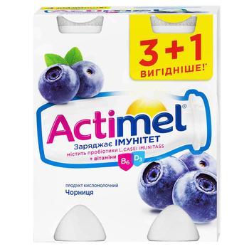 Продукт кисломолочный Danone Actimel черника 1,5% 4шт*100г