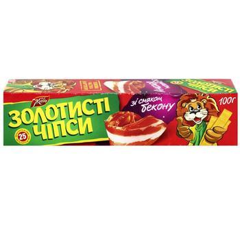 Чипсы Жайвир Золотистые картофельные со вкусом бекона пластинки 100г Украина - купить, цены на МегаМаркет - фото 1